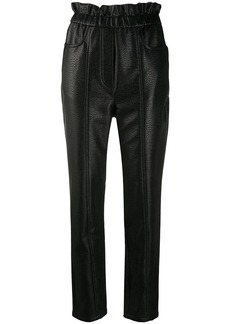 Philosophy faux-leather slim trousers