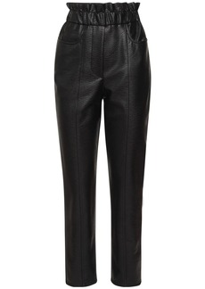 Philosophy Faux Leather Straight Pants