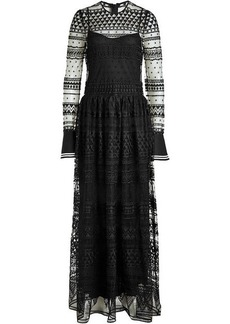 Philosophy Floor Length Dress with Lace