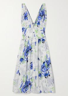 Philosophy Floral-print Cotton-poplin Midi Dress