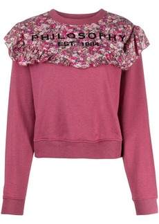 Philosophy floral-print cotton sweatshirt