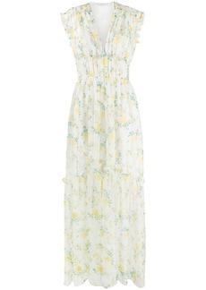 Philosophy floral-print flared dress