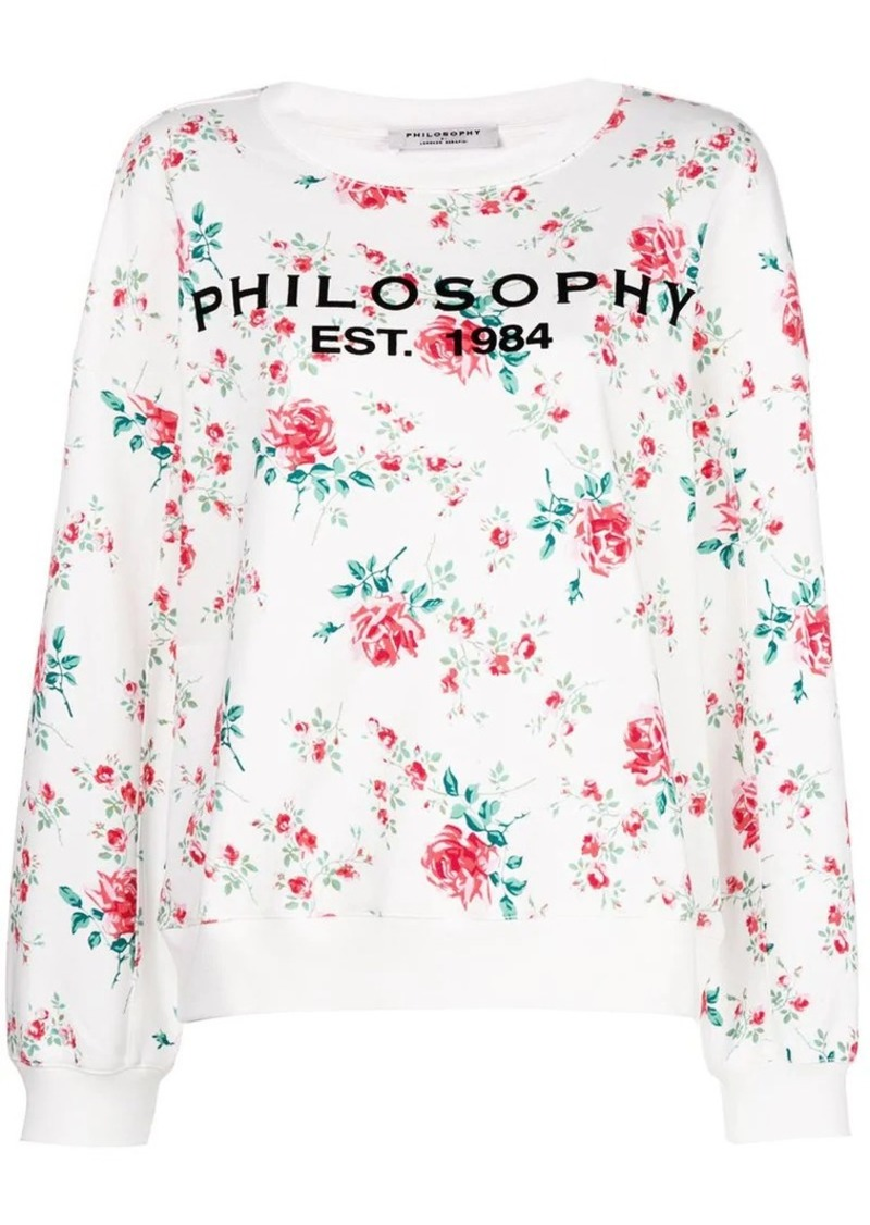 8b2926f93383 Philosophy floral print jersey sweater