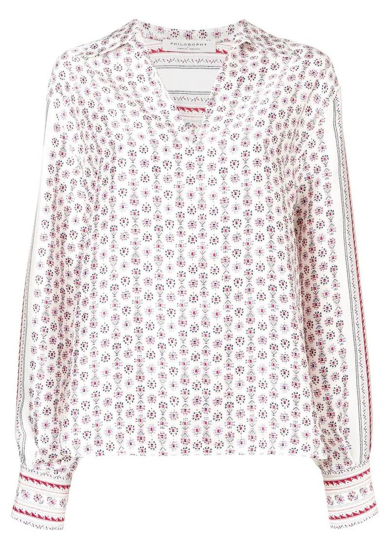 Philosophy foulard print twill blouse