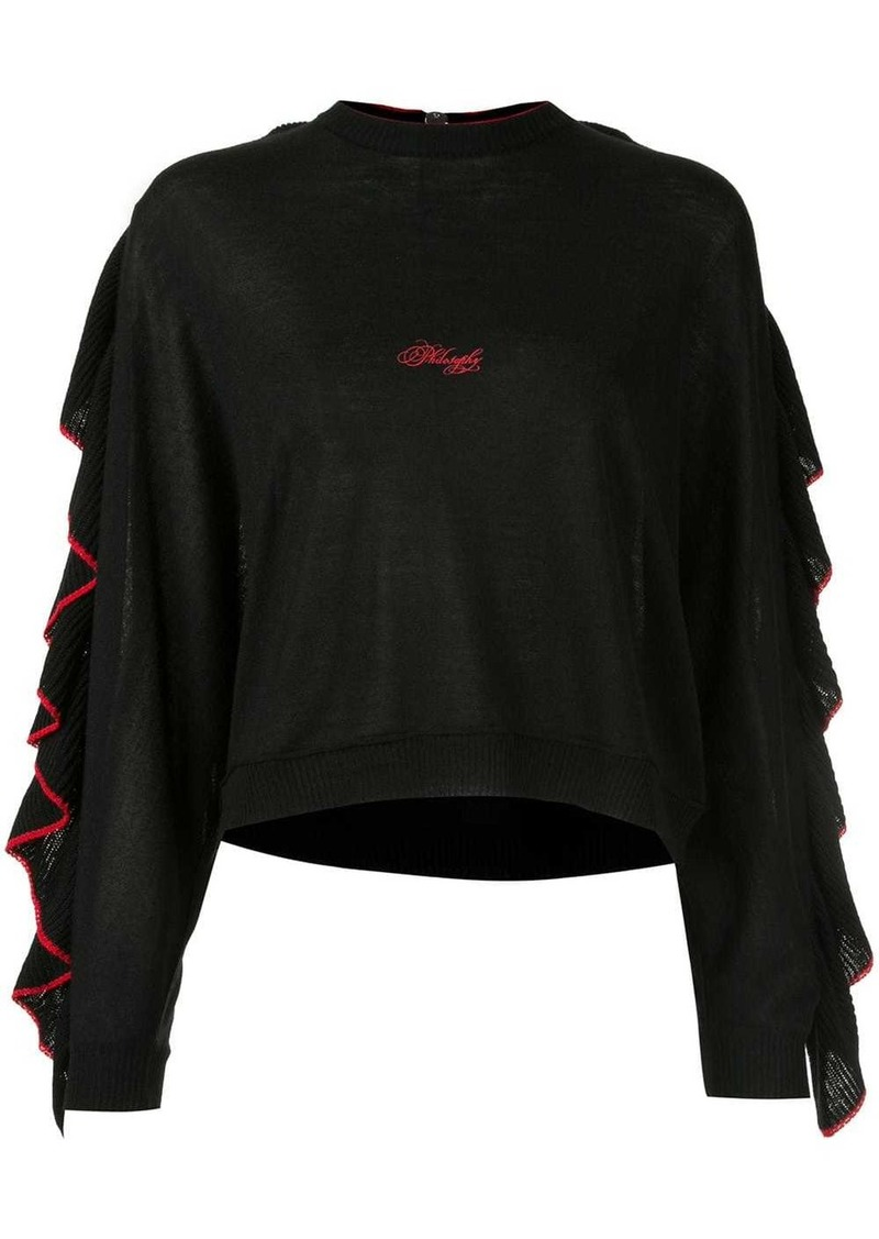Philosophy frilled knit top