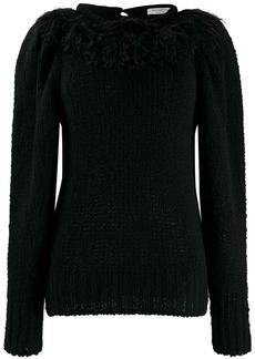 Philosophy fringed knit sweater
