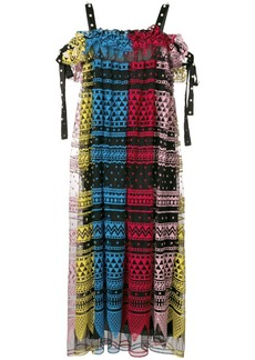 Philosophy geometric embroidered dress