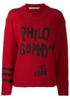 Philosophy graffiti detail jumper
