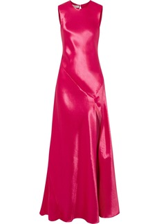 Philosophy Hammered-satin Gown