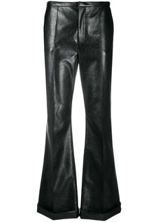 Philosophy high-rise coated kick-flare trousers