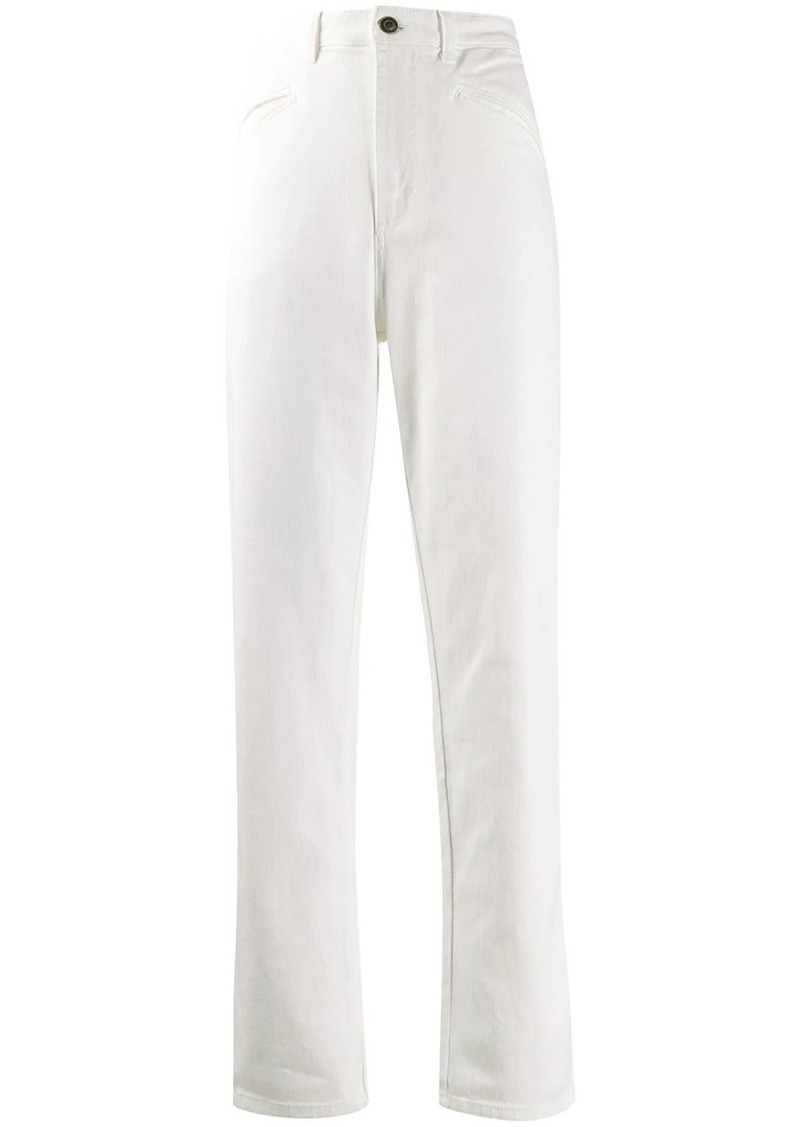 Philosophy high-rise straight leg trousers