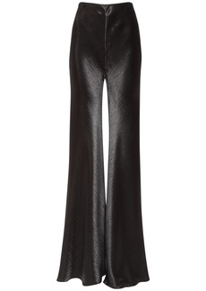 Philosophy High Waist Satin Flared Pants