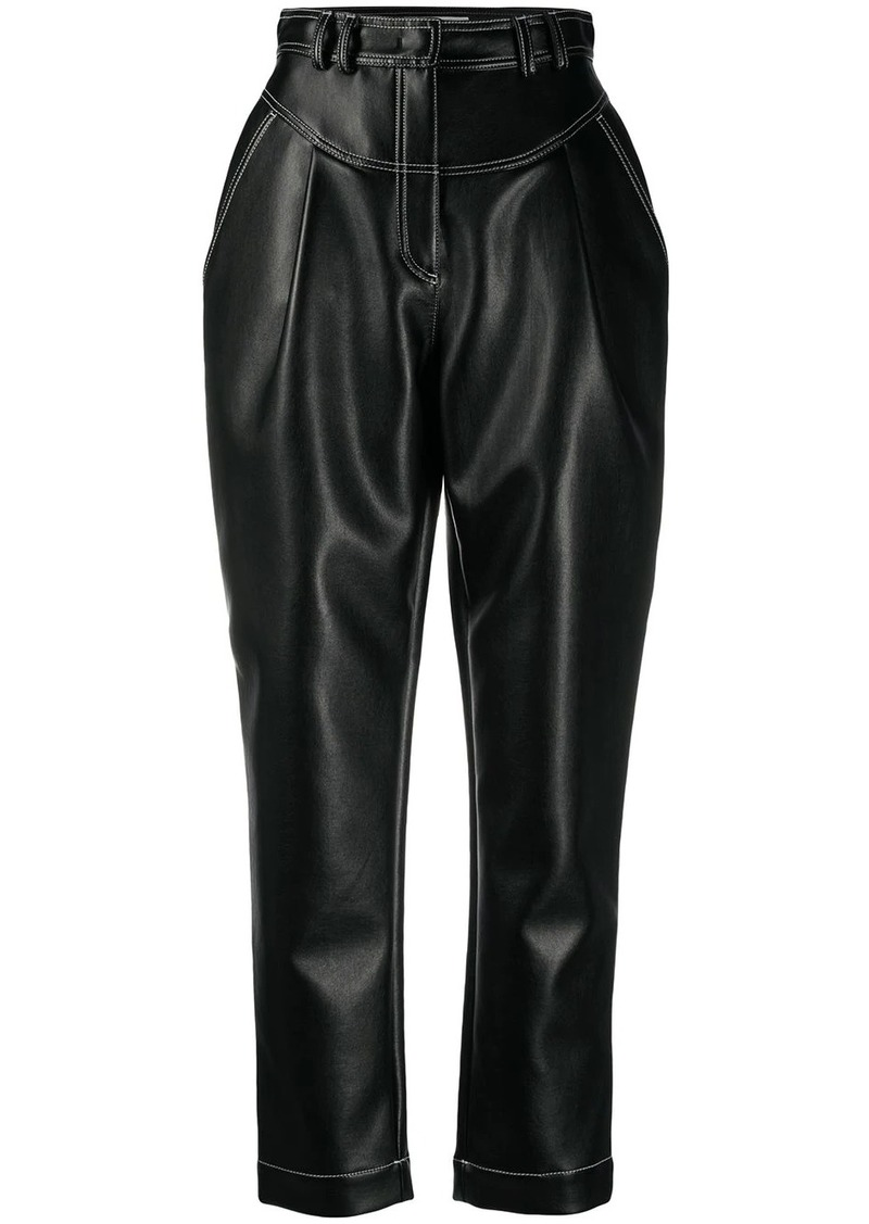 Philosophy high-waisted faux leather trousers
