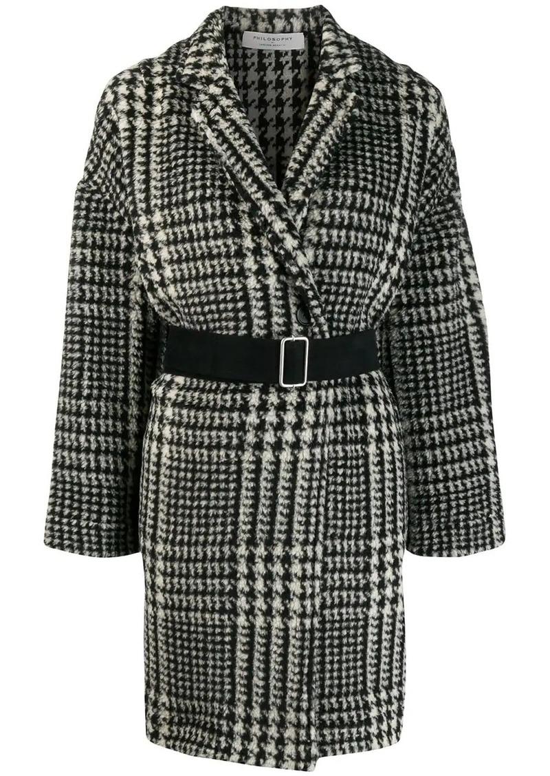 Philosophy houndstooth pattern coat