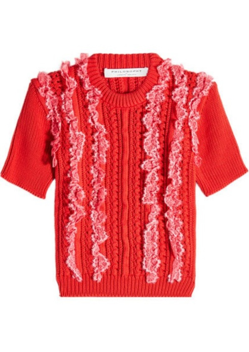 7986e689f496b1 Philosophy Knit Top with Ruffles | Sweaters
