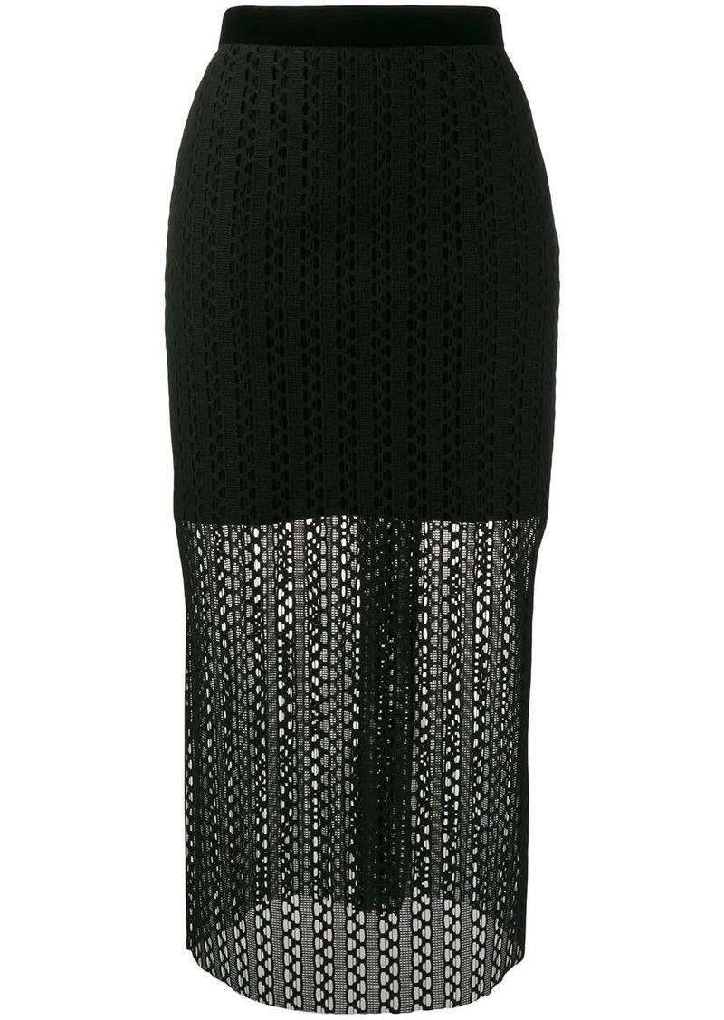 Philosophy knitted midi skirt
