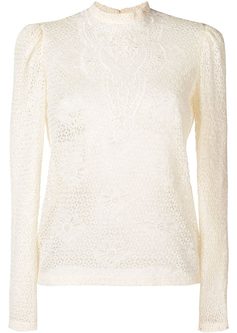Philosophy lace embroidered blouse
