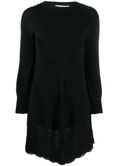 Philosophy lace hem sweater dress