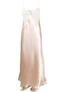 Philosophy lace panel slip gown