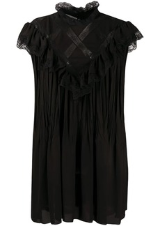 Philosophy lace panelled shift dress