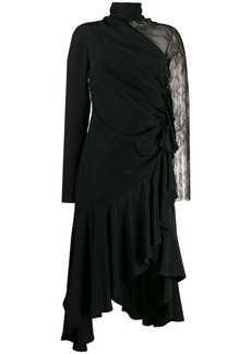 Philosophy lace sleeve asymmetric dress