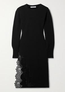 Philosophy Lace-trimmed Cotton-blend Midi Dress