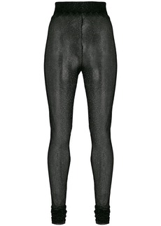 Philosophy lamé fishnet high waist leggings