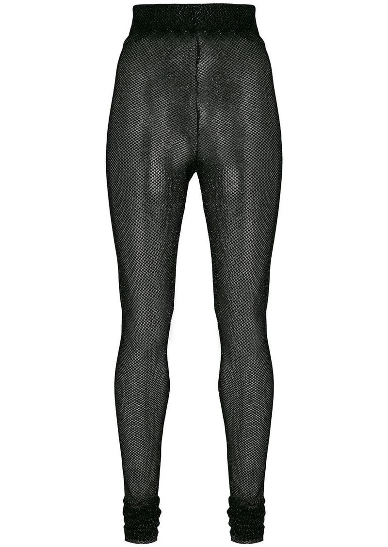 Philosophy lamé fishnet high waist leggings