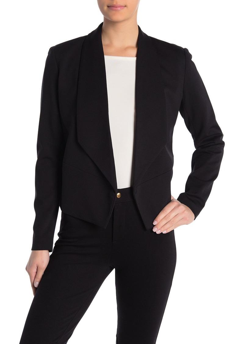 Philosophy Shawl Collar Open Front Crop Blazer