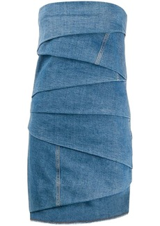 Philosophy layered denim mini dress