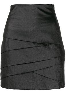 Philosophy layered mini skirt