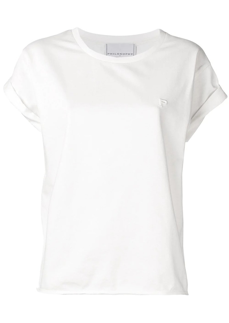 Philosophy logo embossed T-shirt