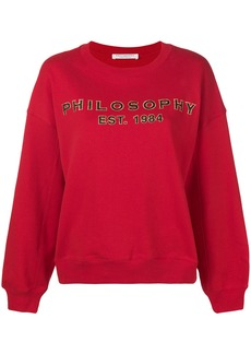 Philosophy logo sweatshirt