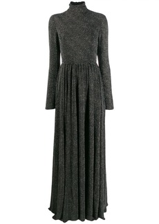Philosophy long flared evening gown