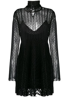 Philosophy mesh layered mini dress