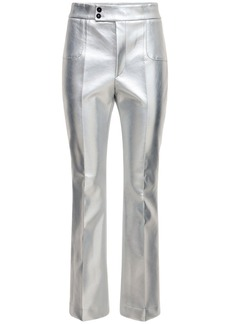 Philosophy Metallic Faux Leather Flared Pants