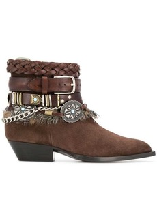 Philosophy multi strap ankle boots
