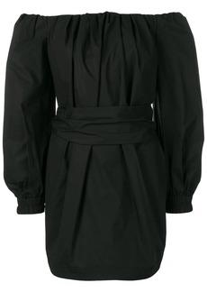 Philosophy off shoulder belted dress