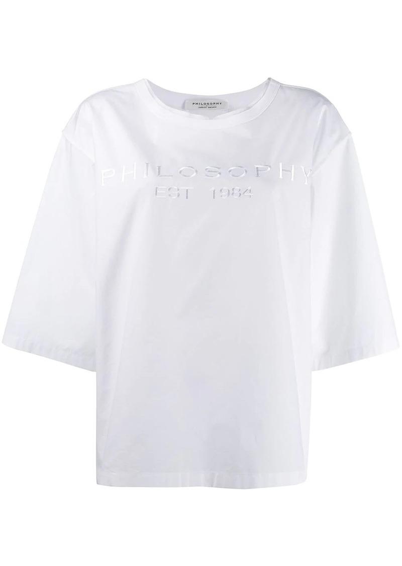 Philosophy oversized logo T-shirt
