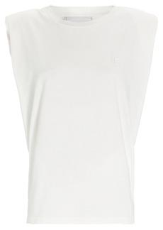 Philosophy Padded Shoulder Crewneck T-Shirt