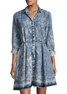 Philosophy 3/4-Sleeve Chambray Dress