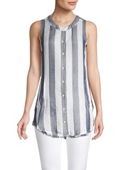 Philosophy Apparel Striped Button-Front Tunic