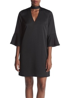 Philosophy by Republic Clothing Choker Neckline Bell Sleeve Dress