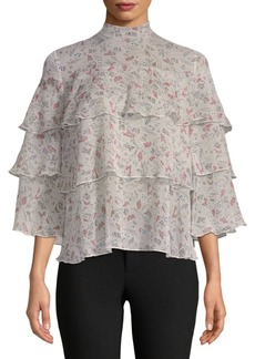 Philosophy Floral-Print Tiered Top