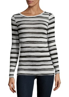 Philosophy Stripe Long-Sleeve Top