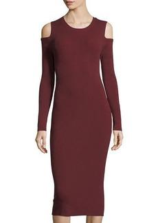 Philosophy Cold-Shoulder Knit Midi Dress