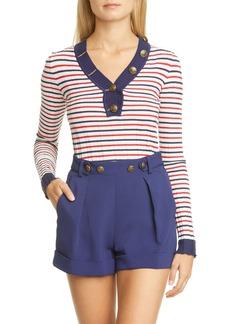 Philosophy Di Lorenzo Serafini Stripe Rib Cotton Sweater