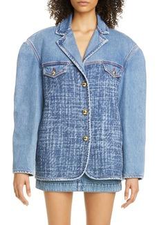 Philosophy Di Lorenzo Serafini Oversize Belted Denim Jacket