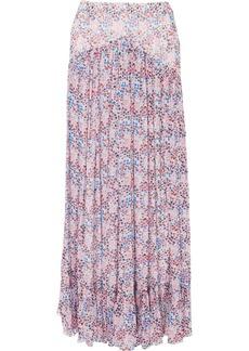 Philosophy di Lorenzo Serafini Ruffled floral-print crinkled-chiffon maxi skirt