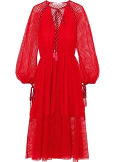 Philosophy di Lorenzo Serafini Tassel-trimmed crocheted lace dress